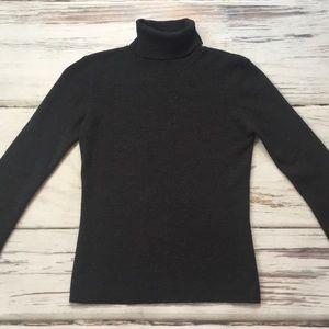 Banana Republic Sweater Wool Turtleneck Gray Small